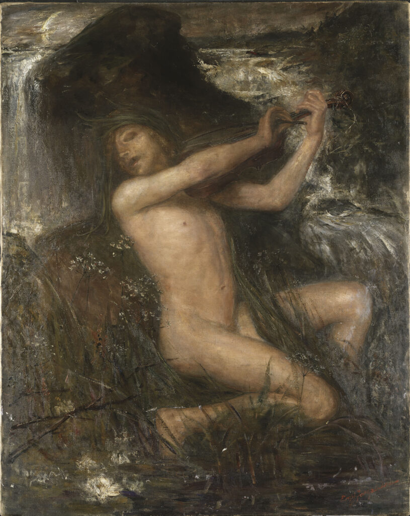 "Эрнст Юсефсон, ""Неккен"". Холст, масло, 1882"
