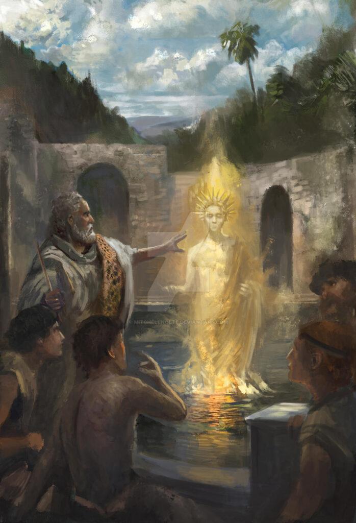 """Mitchellnolte, """"Ямвлих, вызывание духа в Гадарах"""", 2020"""