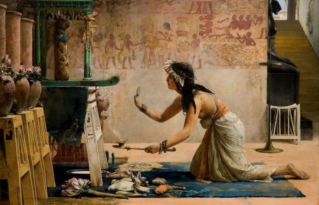 """Джон Рейнхард Вегелин, """"Похороны египетского кота"""", 1886"""
