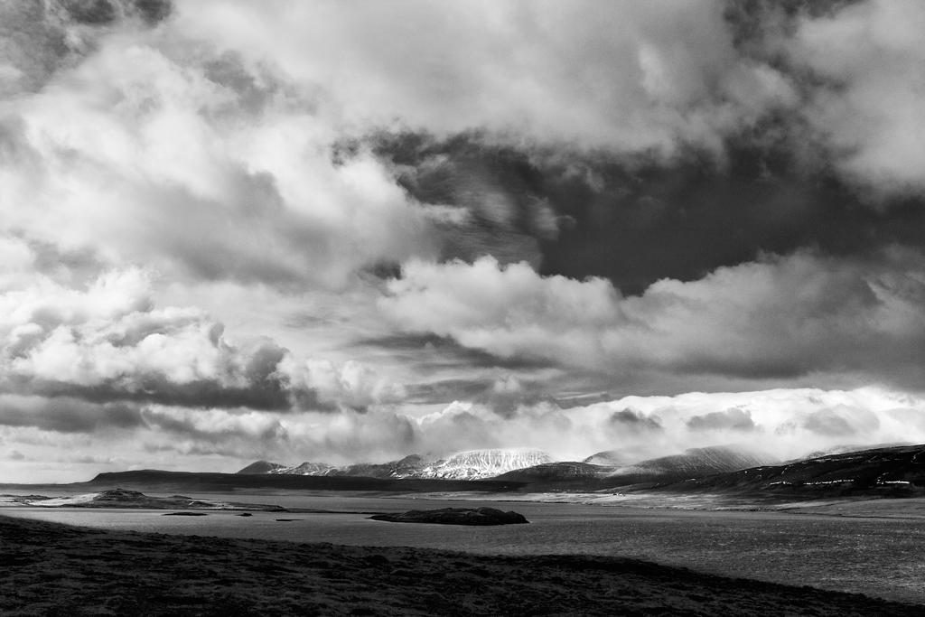Вид на Китовый фьорд, Исландия