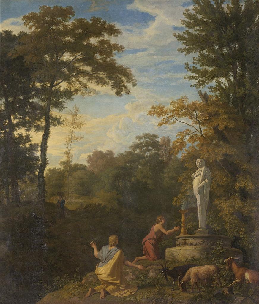 "Йрханнес Глаубер, ""Аркадский пейзаж"". Холст, масло, между 1680 и 1726"