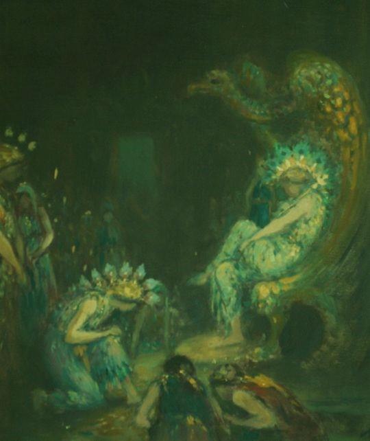 """Джордж Уильям Расселл (АЕ), """"Пещера фей в Лиссаделе"""""""