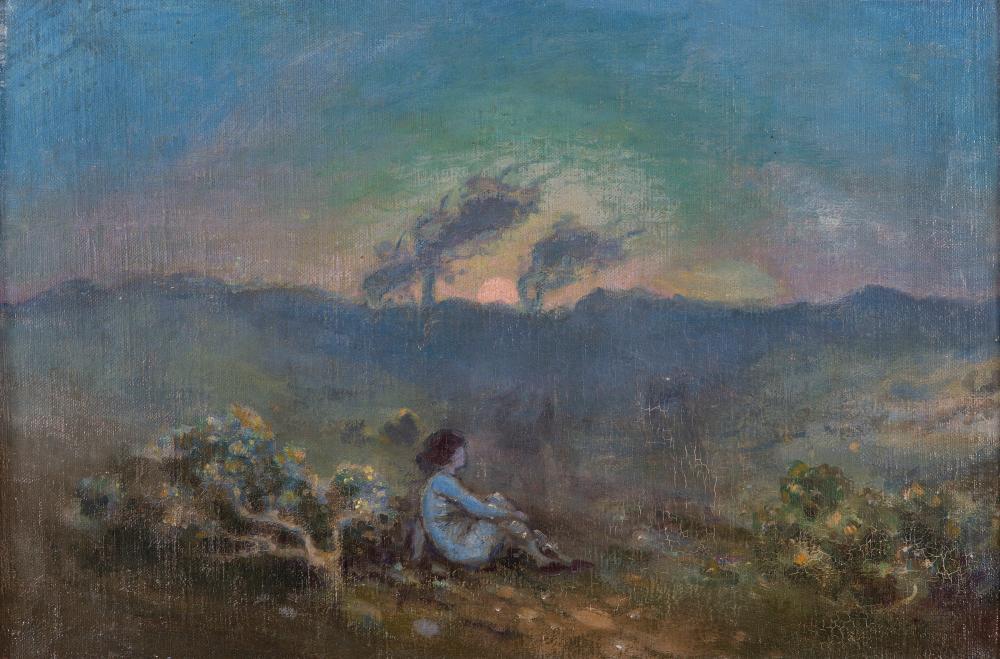 """Джордж Уильям Рассел (АЕ), """"Фигуры в пейзаже"""""""