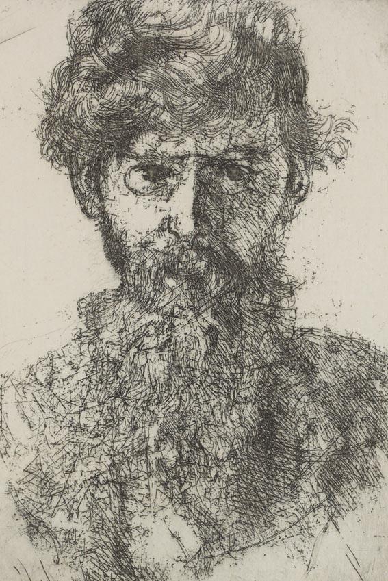 Уильям Орпен, портрет Джордж Рассела (АЕ). Гравюра на меди, 1906